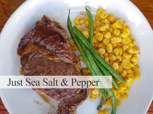 Just Sea Salt and Pepper