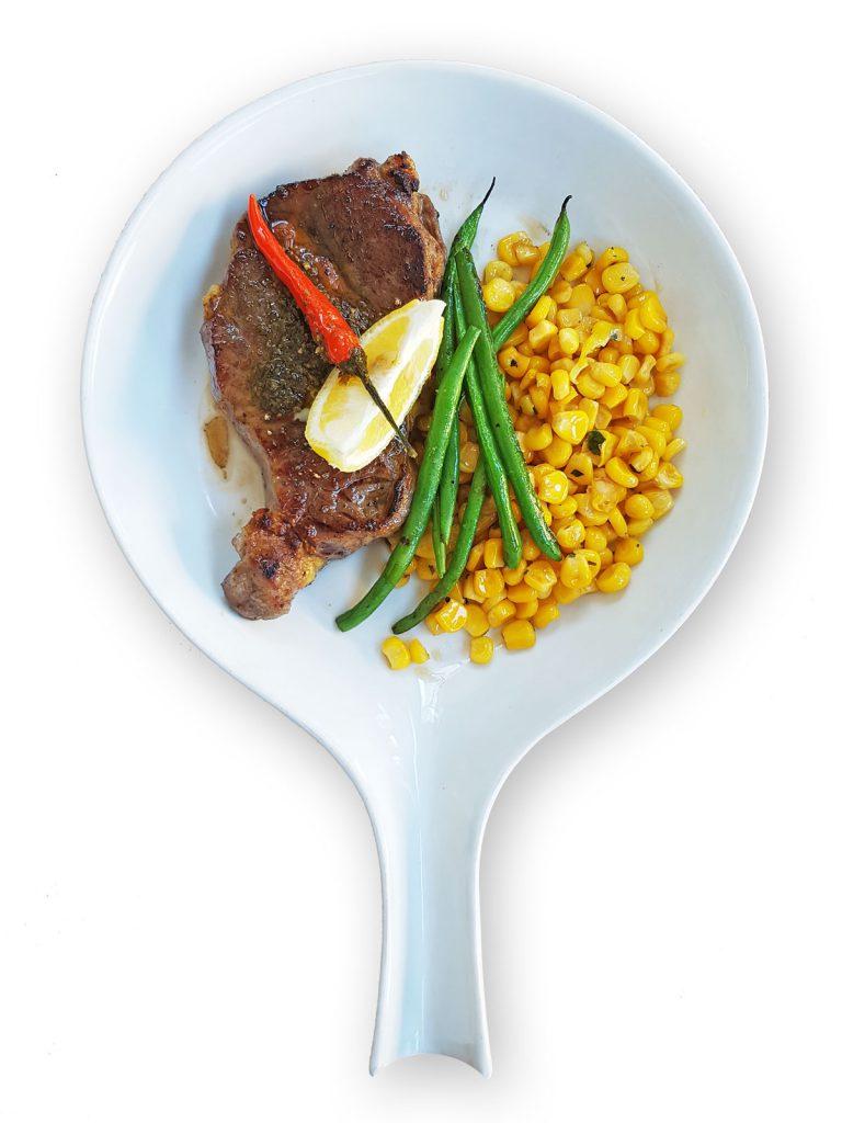 Spicy Lemon Pesto Rib Eye Steak